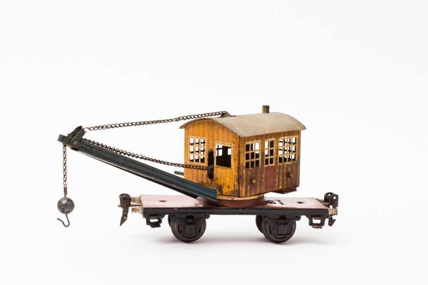 MARKLIN crane car in 1768, track 0, 1933-1939, - photo 2