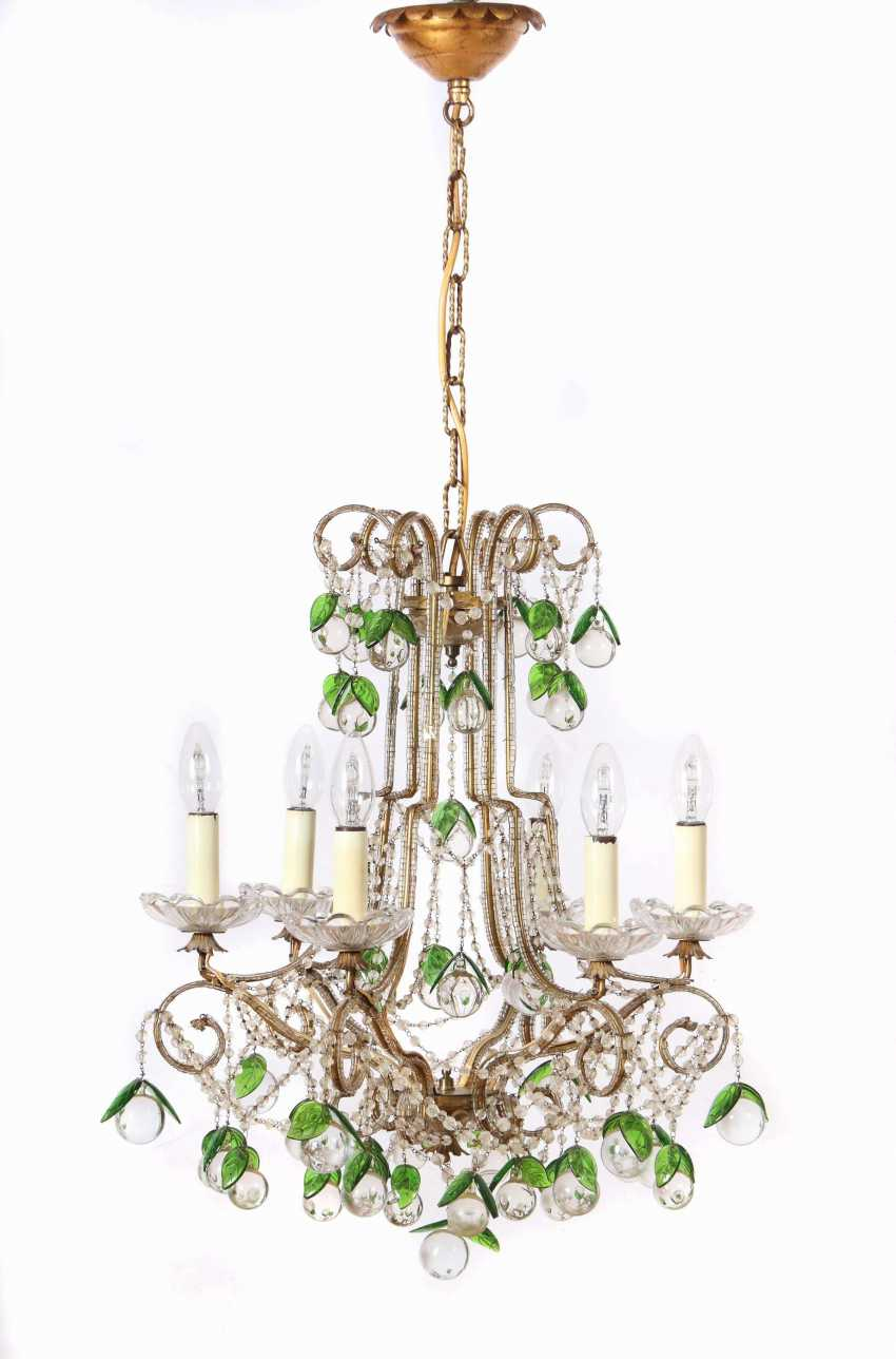 Chandelier with a pair of wall chandeliers, 2nd half of the 20th century - photo 1