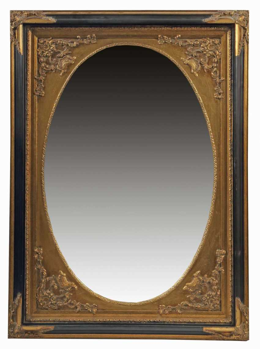 Wall mirror with oval passe-partout end of the 20th century - photo 1