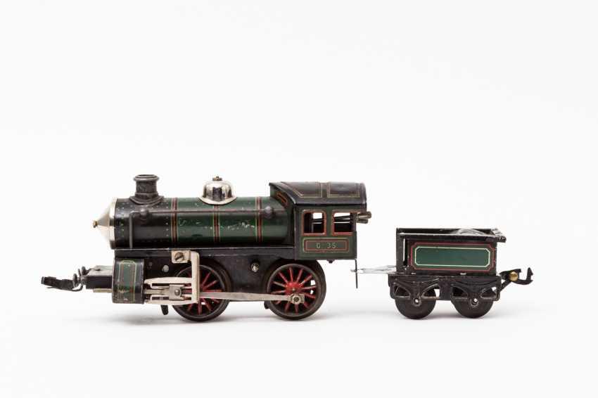 KARL BUB clockwork steam locomotive, gauge 0, - photo 1
