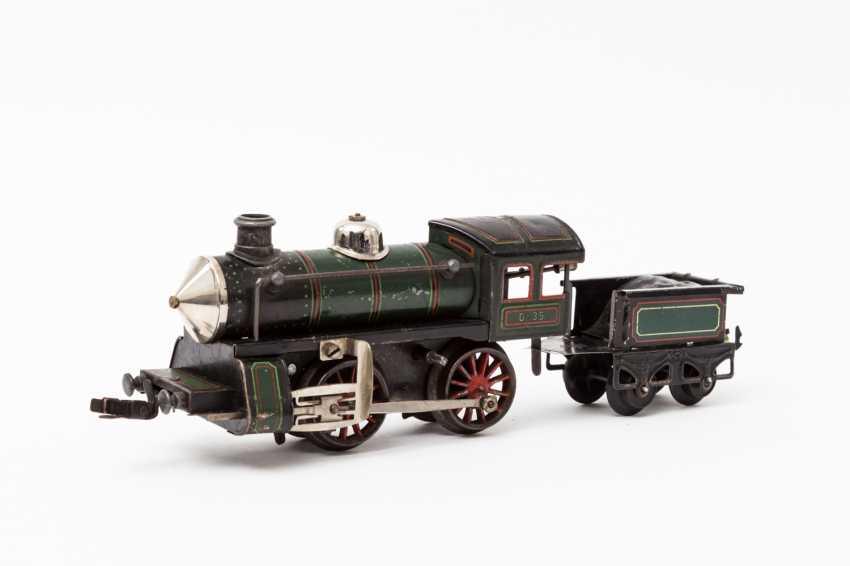 KARL BUB clockwork steam locomotive, gauge 0, - photo 2