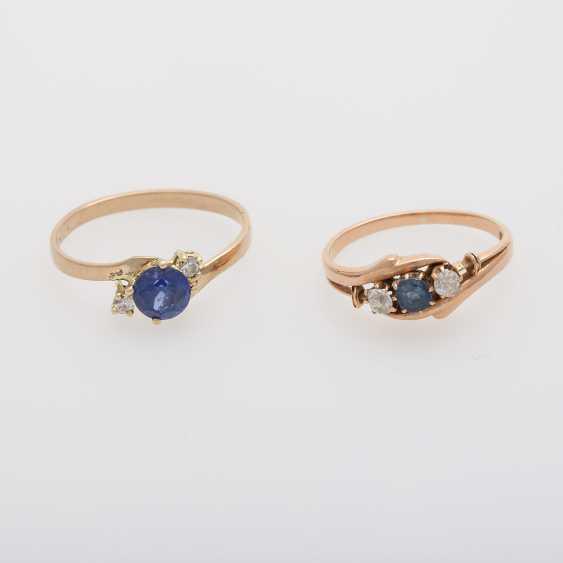 2 rings with precious stones, - photo 1