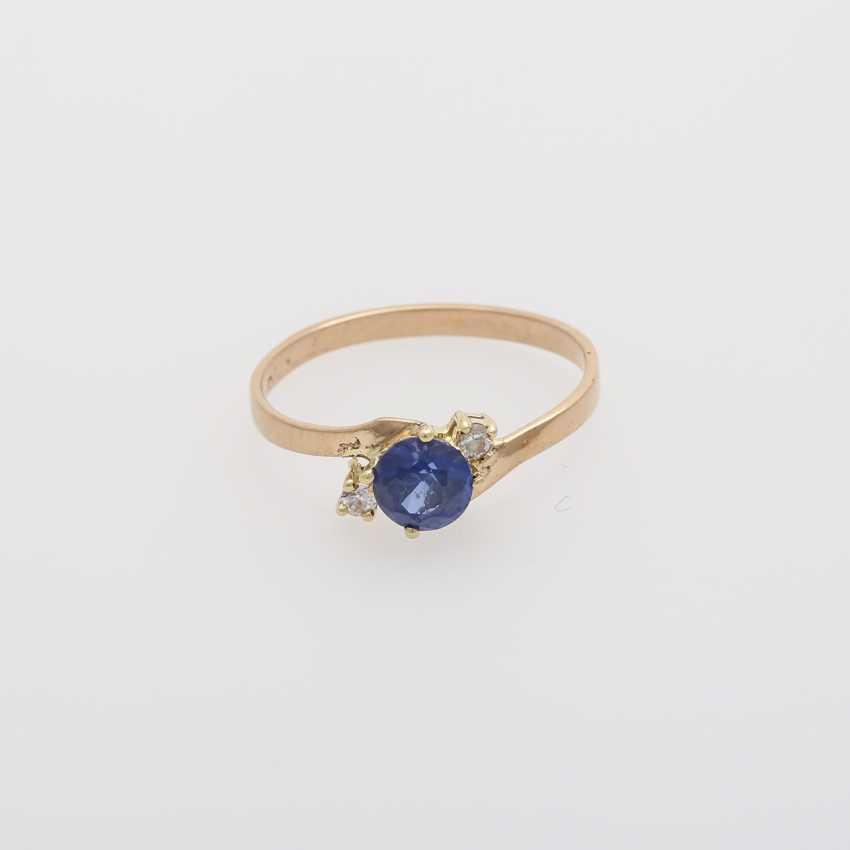 2 rings with precious stones, - photo 2