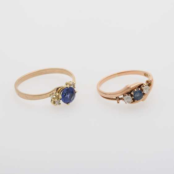 2 rings with precious stones, - photo 4