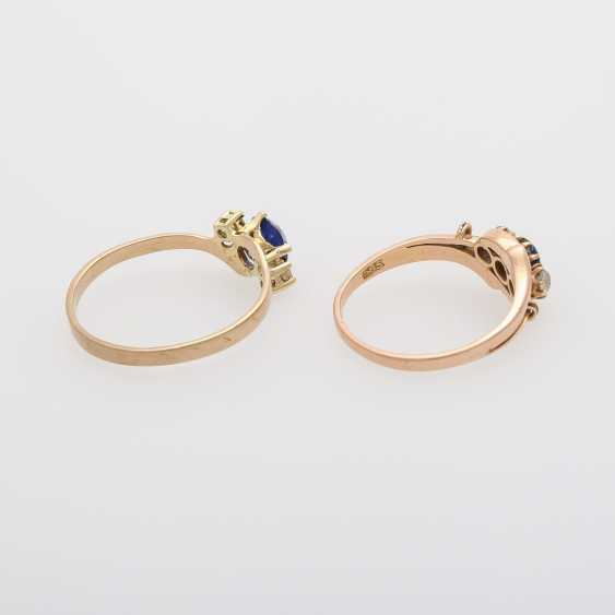 2 rings with precious stones, - photo 5