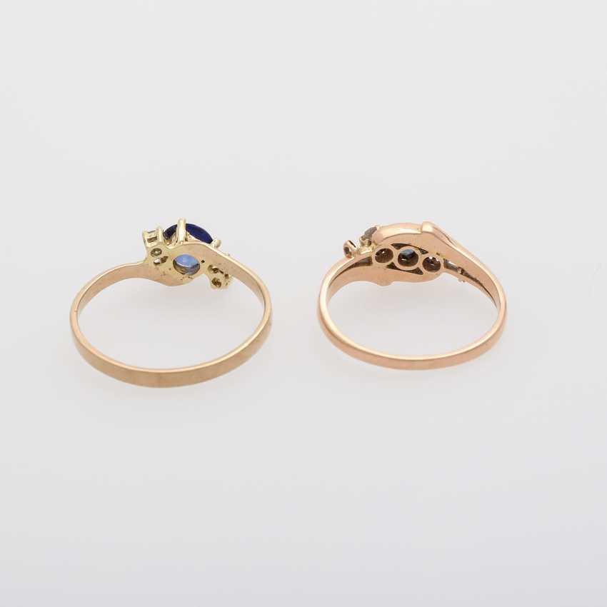 2 rings with precious stones, - photo 6