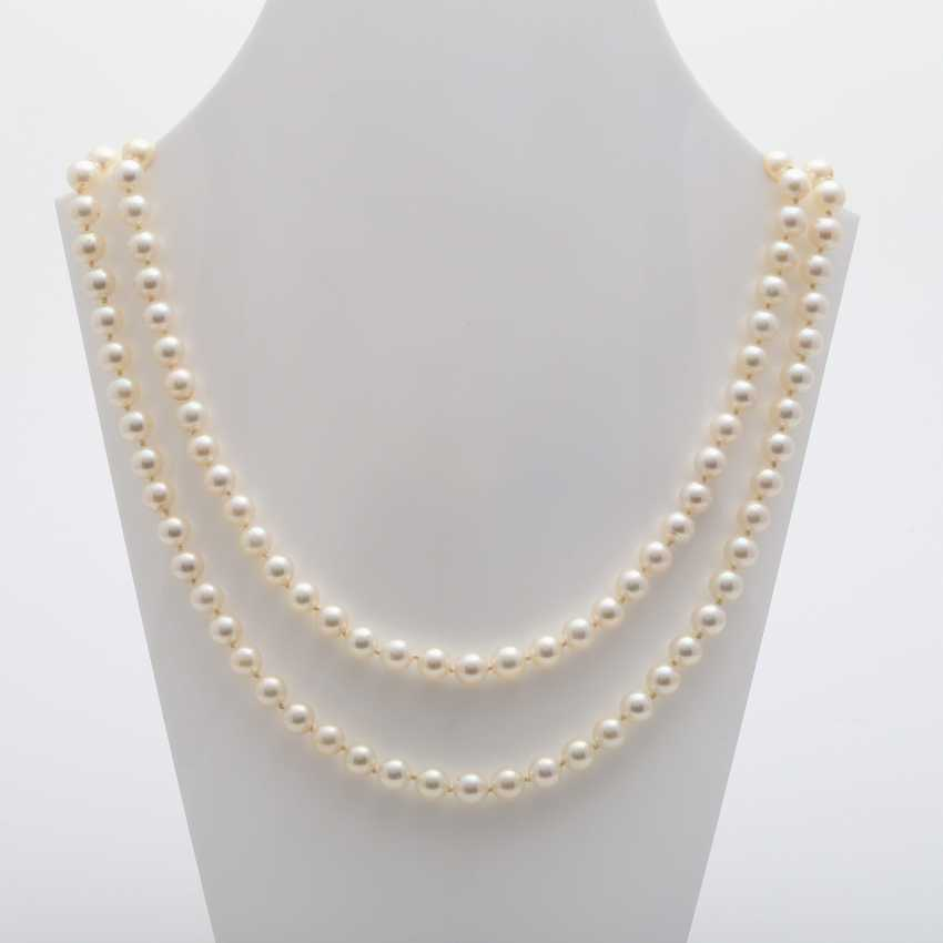 2-row pearl necklace - photo 1