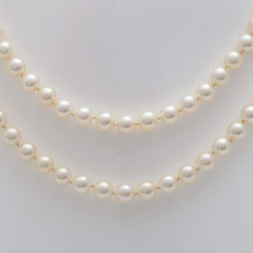 2-row pearl necklace - photo 2