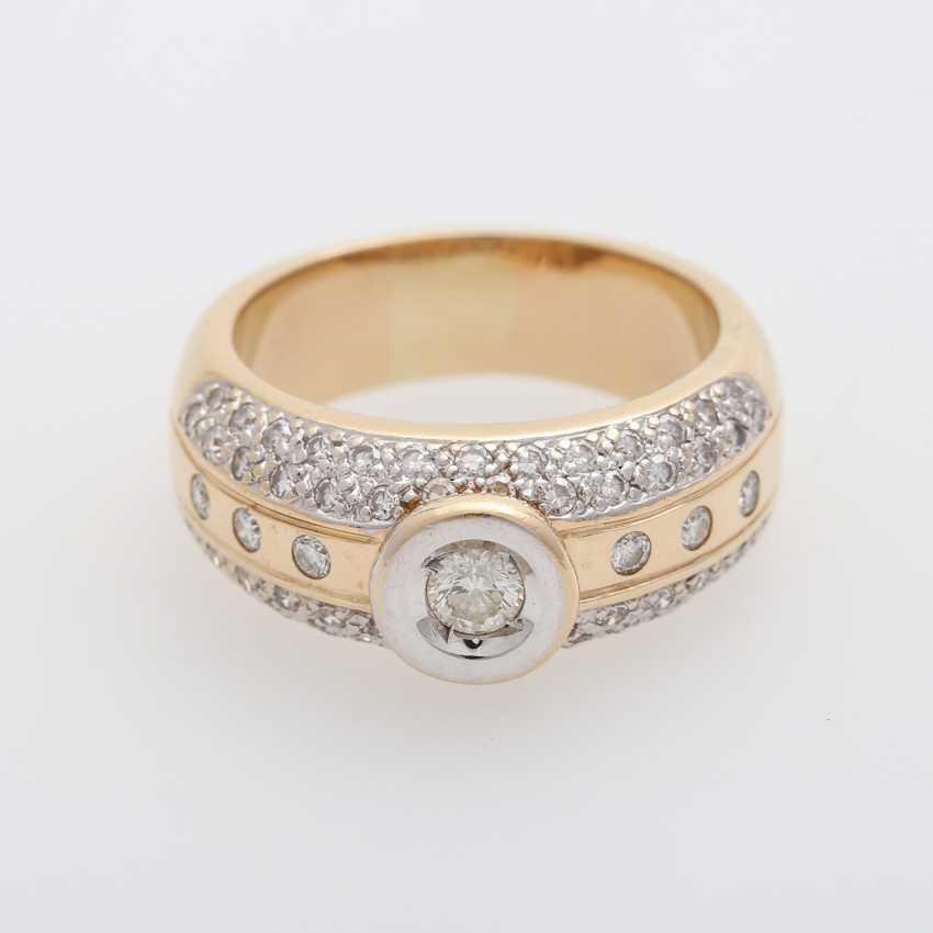 Ladies ring with diamonds, - photo 1