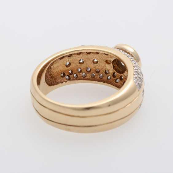 Ladies ring with diamonds, - photo 3