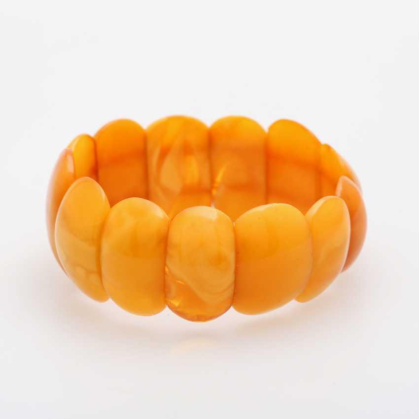 Bracelet made of bright amber elements - photo 3