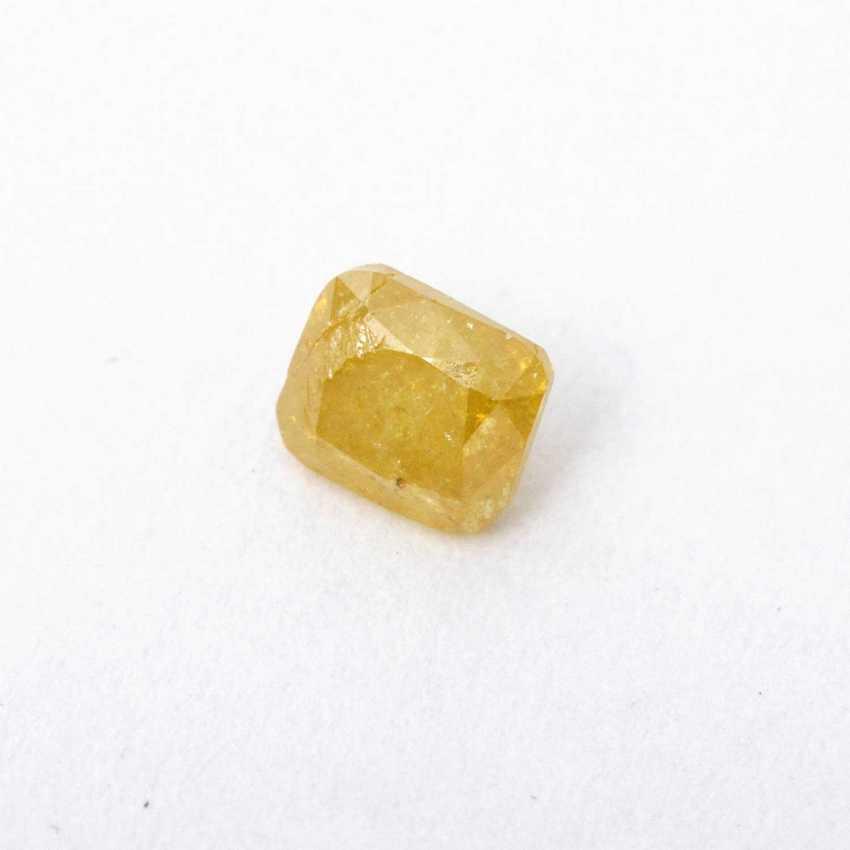 Loose, natural, yellow diamond, 0,41 CT., - photo 1