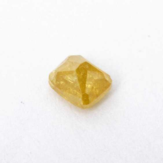 Loose, natural, yellow diamond, 0,41 CT., - photo 3