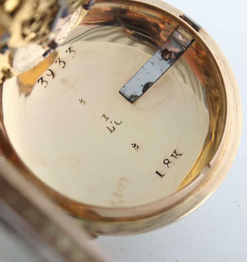Gold-Spindeltaschenuhr Frankreich - photo 5