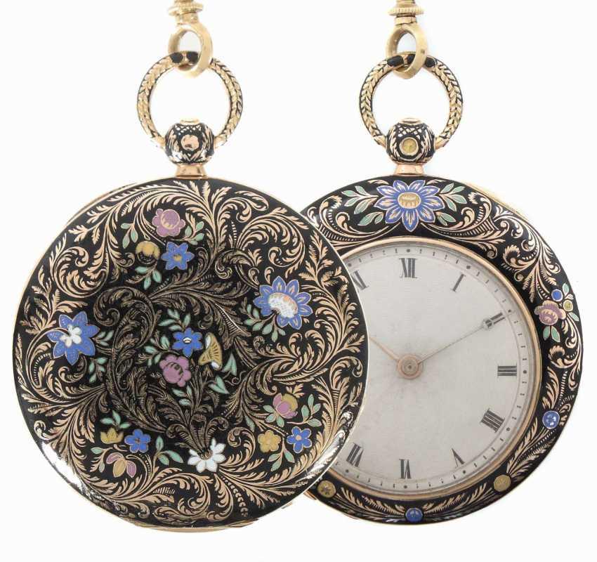 Damentaschenuhr Mitte 19. Jahrhundert - photo 1