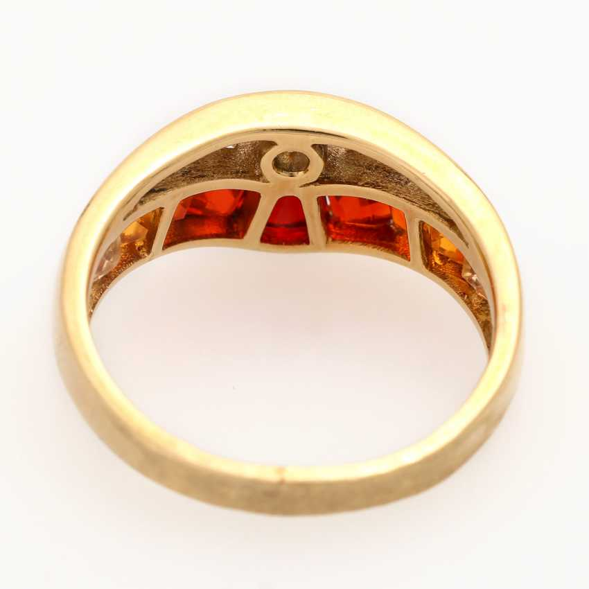 Ladies ring studded with 9 ground-fire opals - photo 4