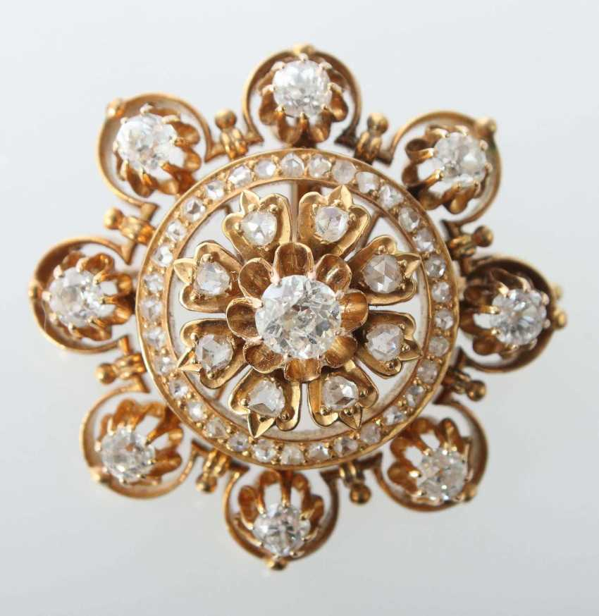 Diamant-Brosche 1. Drittel 20. Jahrhundert - photo 1