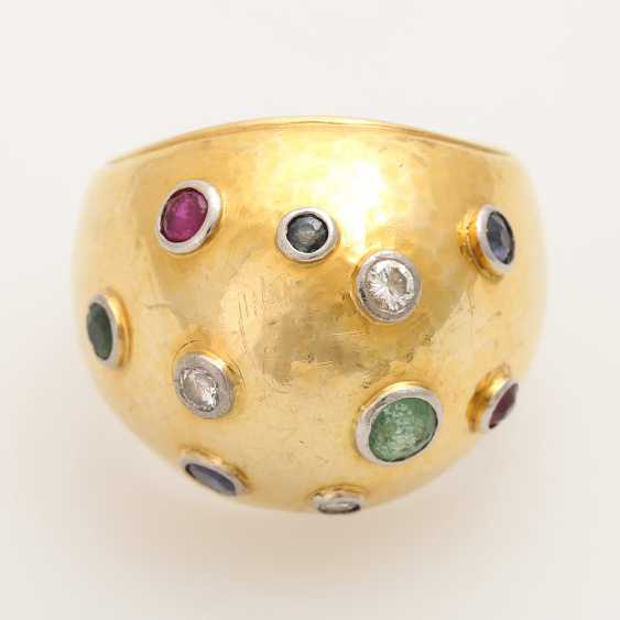 Extravagant ladies ring with precious stones, - photo 1