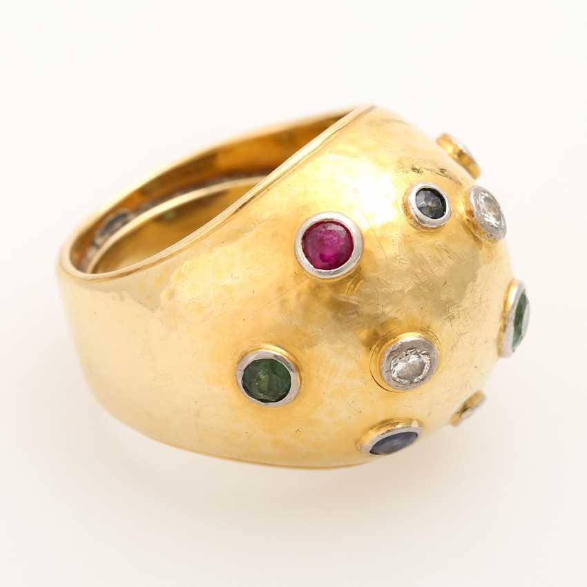 Extravagant ladies ring with precious stones, - photo 2
