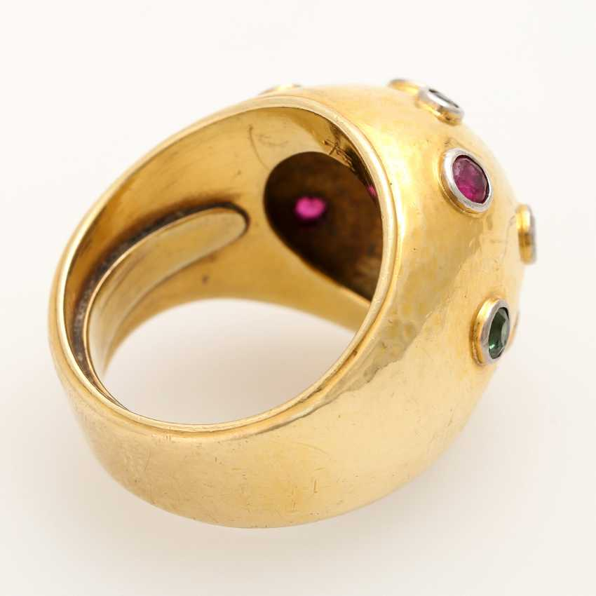 Extravagant ladies ring with precious stones, - photo 3