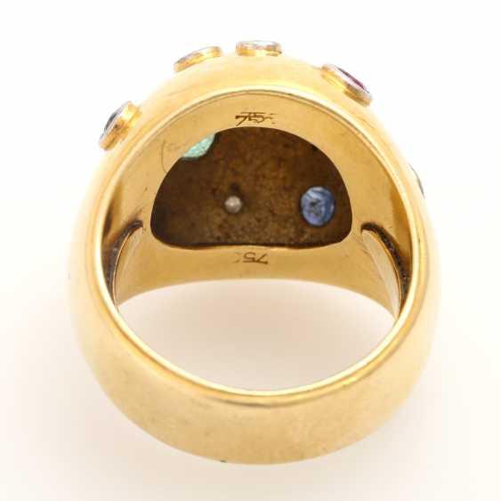 Extravagant ladies ring with precious stones, - photo 4