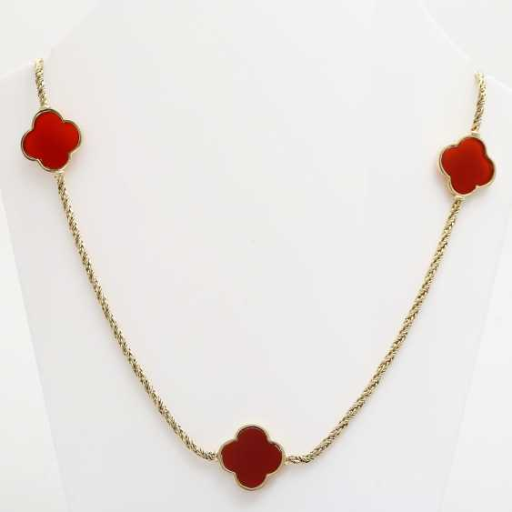 Gold necklace with Carnelians, - photo 1