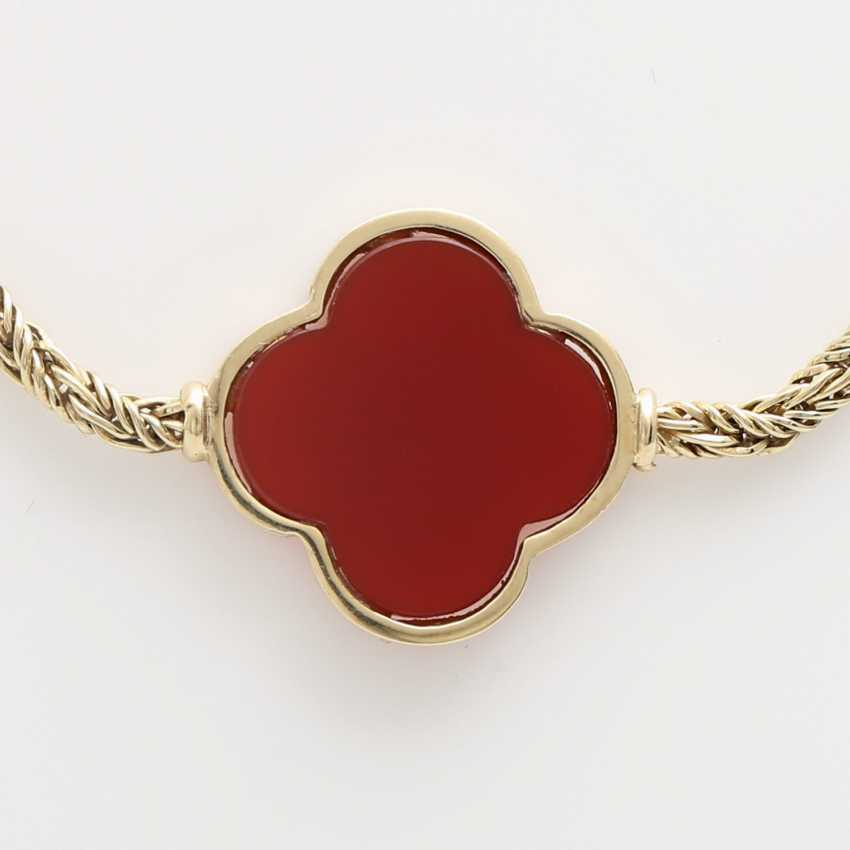 Gold necklace with Carnelians, - photo 2