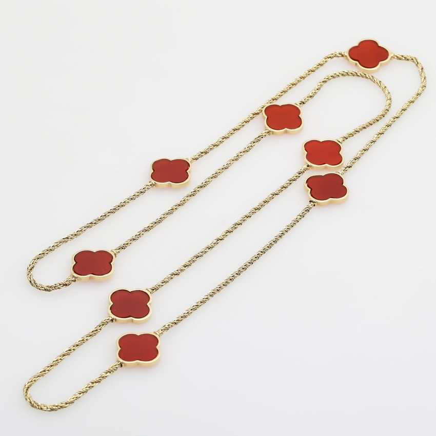 Gold necklace with Carnelians, - photo 3