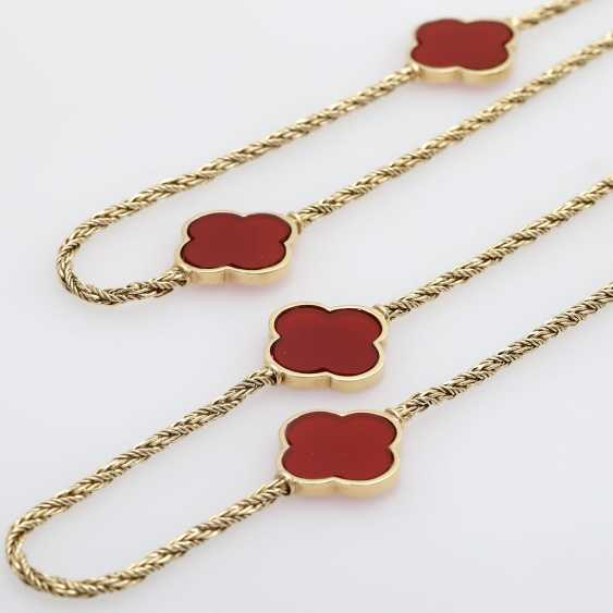 Gold necklace with Carnelians, - photo 4
