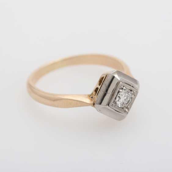 Ring mit Brilliant ca. 0,2ct., W (H) / VS, - photo 2