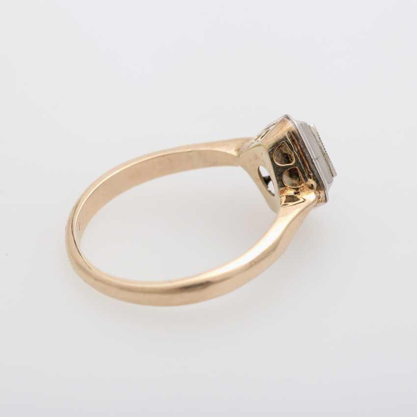 Ring mit Brilliant ca. 0,2ct., W (H) / VS, - photo 3