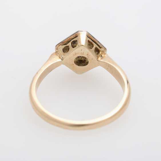 Ring mit Brilliant ca. 0,2ct., W (H) / VS, - photo 4