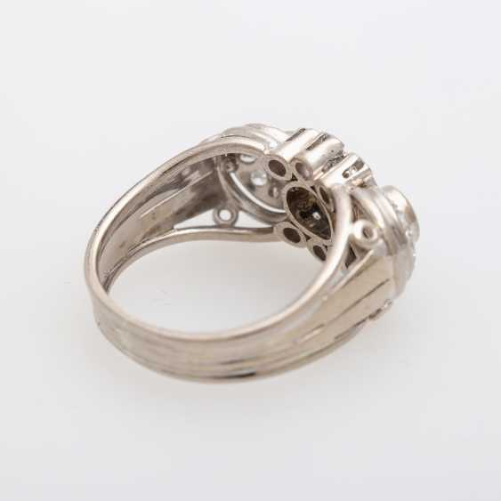 Ring with 3 Brilliant together approx. 0,85 ct., - photo 3