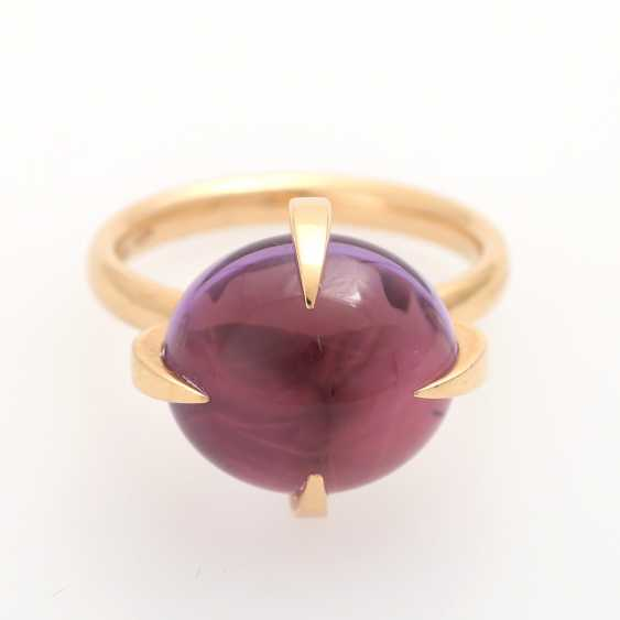 Ladies ring studded with a Amethyst Cabochon - photo 1