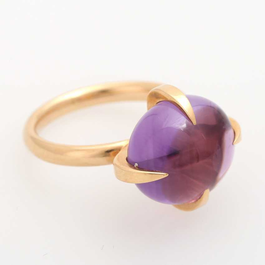 Ladies ring studded with a Amethyst Cabochon - photo 2