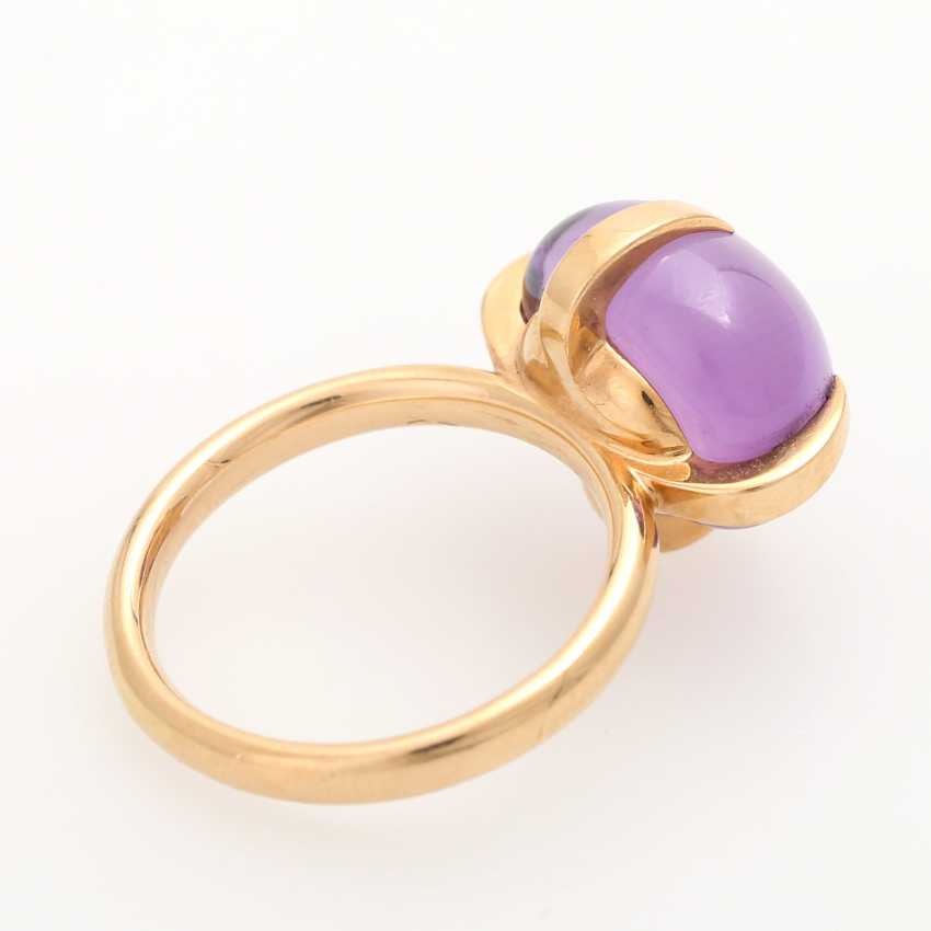 Ladies ring studded with a Amethyst Cabochon - photo 3