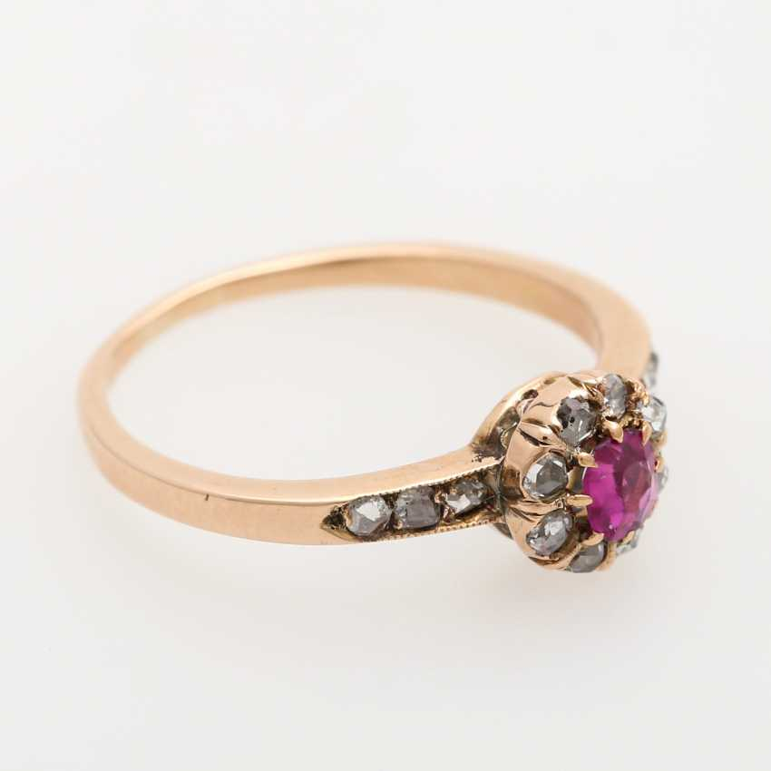 Ladies ring studded with antique fac. Rubin, - photo 2