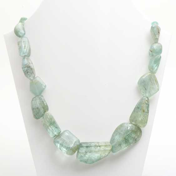 Necklace made of Baroque blue-and-green Berryll elements, - photo 1