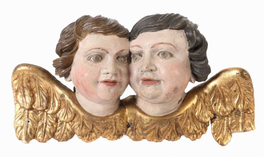 Bildschnitzer des 19./20. Jahrhundert Süddeutschland, ''Engelspaar'' - photo 1