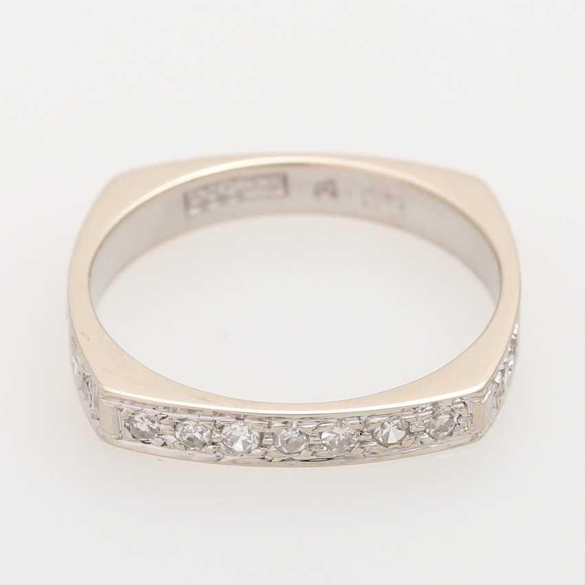 Half eternity ring with octagon diamond - photo 1