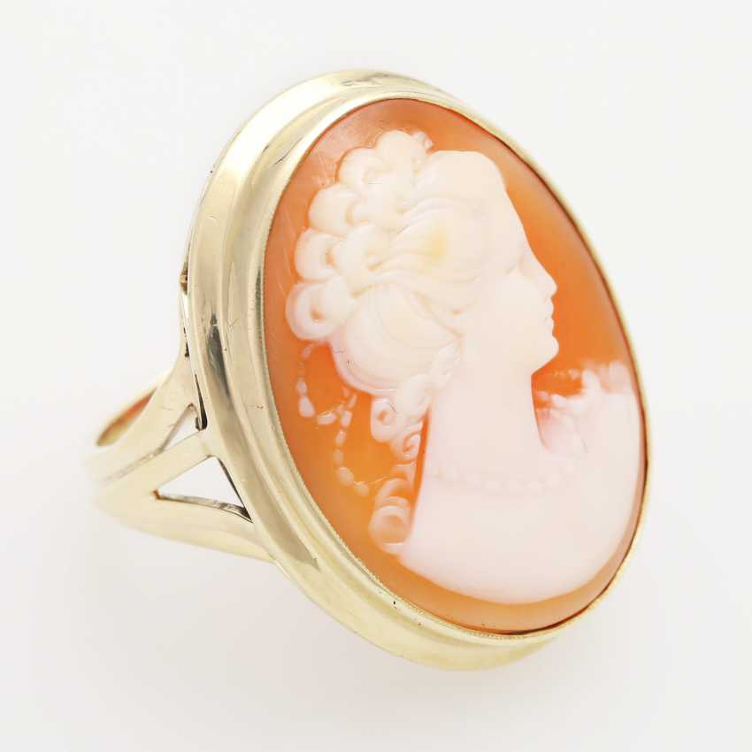Ladies ring studded with 1 fine Muschelcamee - photo 4