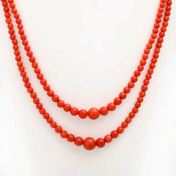 Group of coral jewelry, 3 - piece: 1 ball chain - photo 2