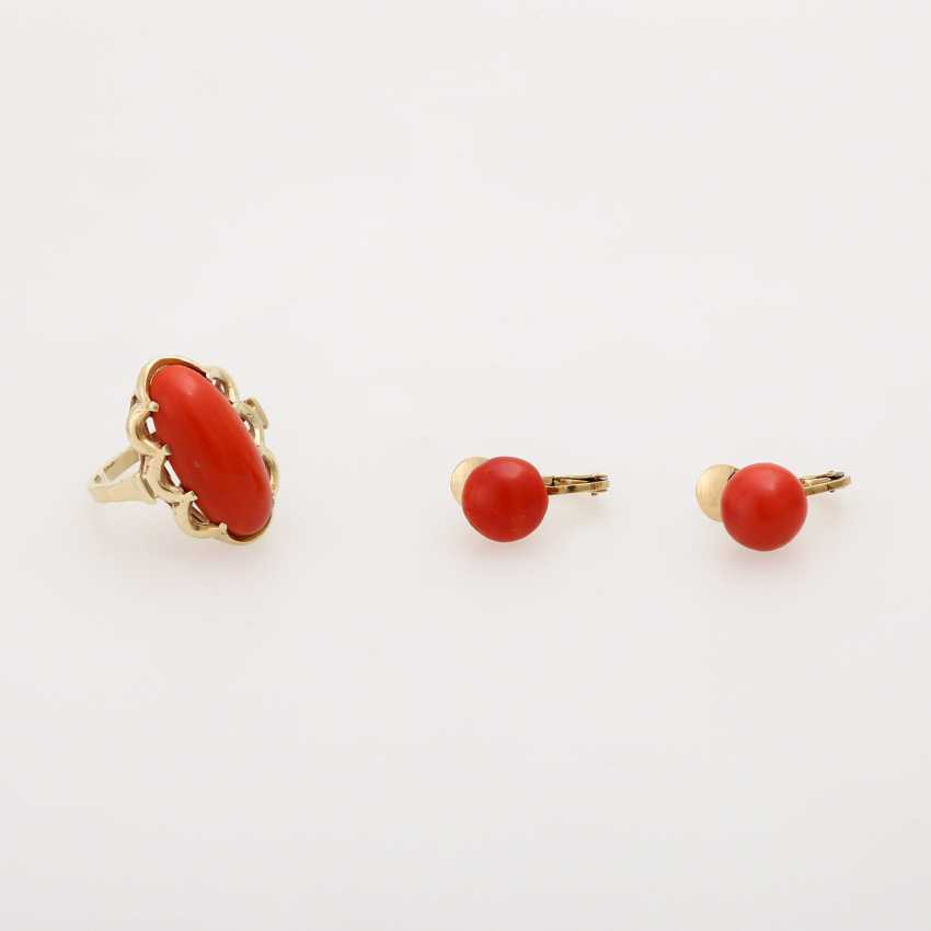 Group of coral jewelry, 3 - piece: 1 ball chain - photo 3