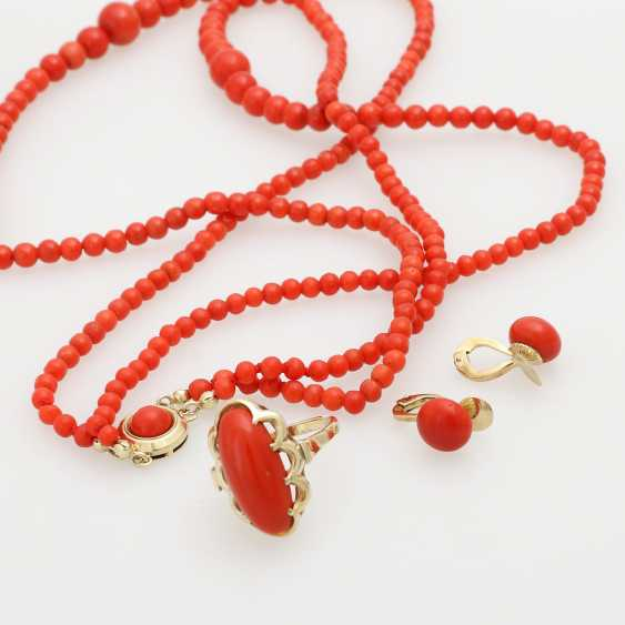 Group of coral jewelry, 3 - piece: 1 ball chain - photo 4