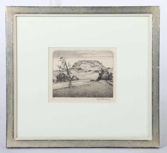 Hollenberg, Felix Sterkrade/Ruhr 1868 - 1945 Gomadingen, Landschaftsmaler und Grafiker in Stuttgart, Stud. an den Akad. Düsseldorf und Stuttgart. ''Der Asperg'' - photo 2