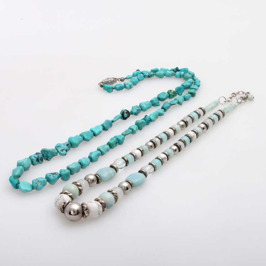 Vintage 2 Stone Chains: 1 Turquoise Chain - photo 1