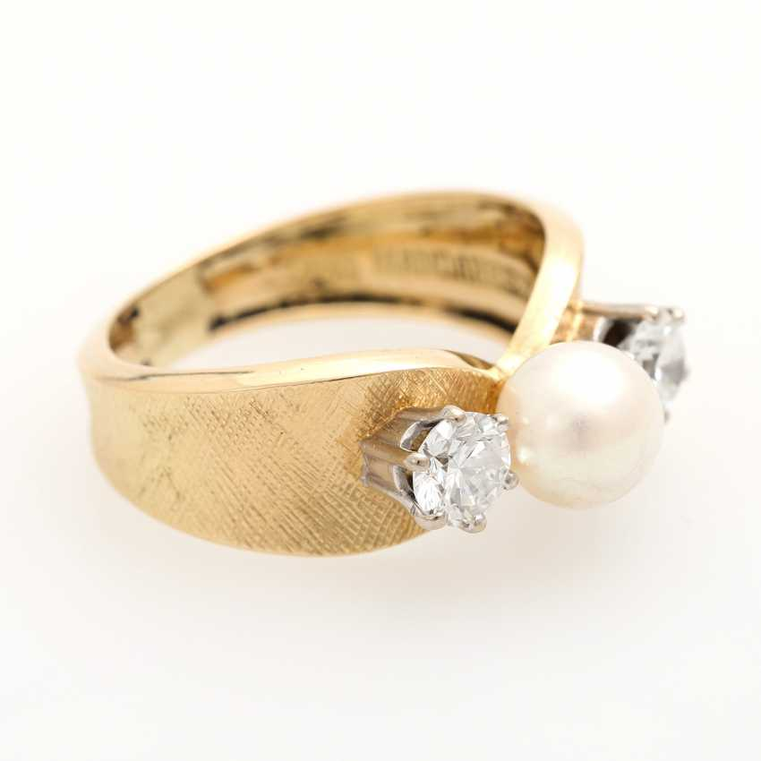 Ladies ring with 1 Akoya cultured pearl - photo 2