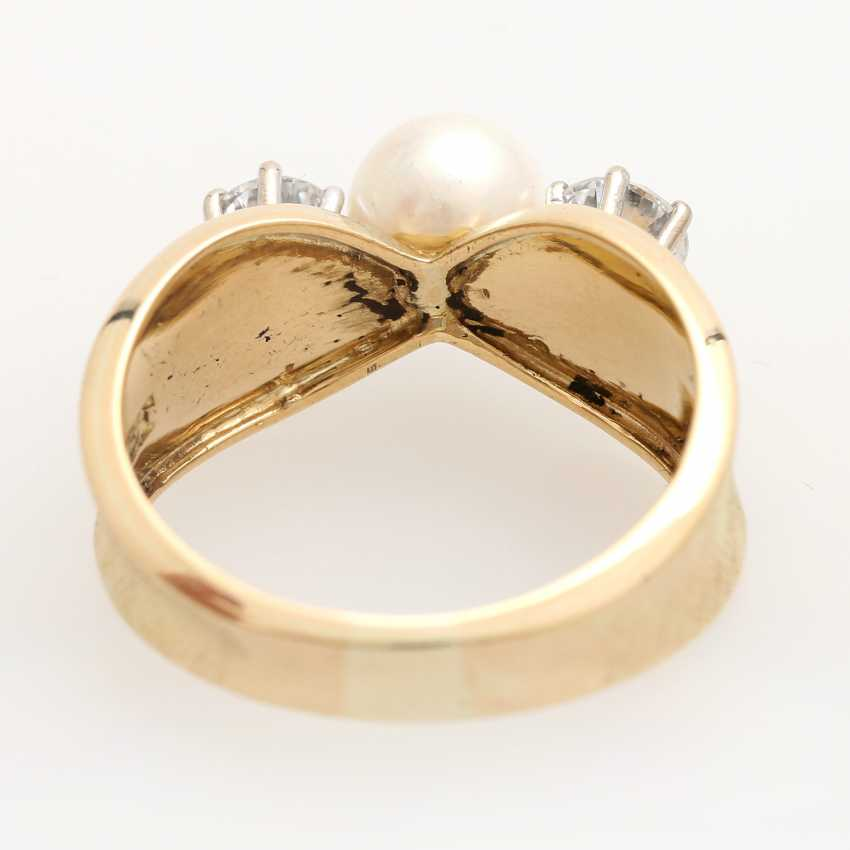 Ladies ring with 1 Akoya cultured pearl - photo 4