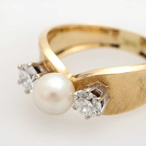 Ladies ring with 1 Akoya cultured pearl - photo 5