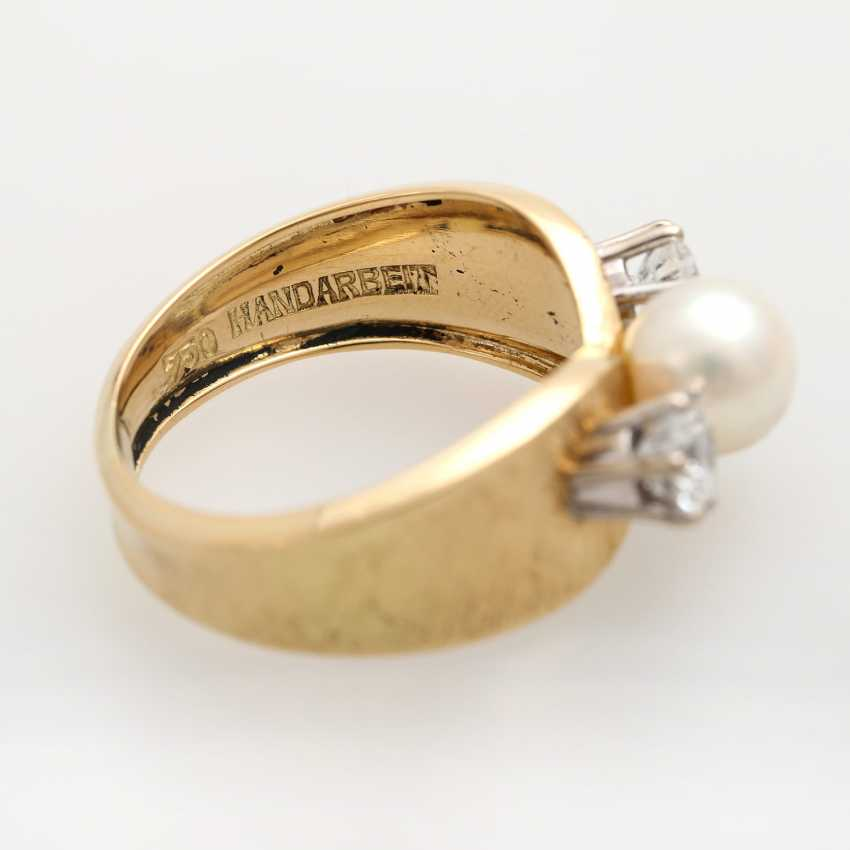 Ladies ring with 1 Akoya cultured pearl - photo 6